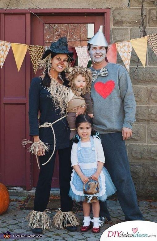 Karneval Familie Kostüme selber machen - Zauberer von Oz