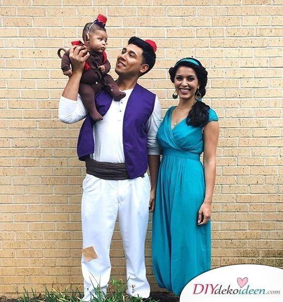 Karneval Kostüm Ideen für Familie - Aladdin
