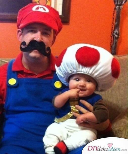 Familienkostüme selber nähen - Super Mario
