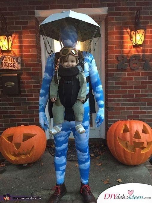 Karneval Familie Kostüme selber machen - Fallschirmspringer