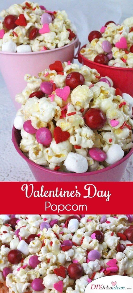 Valentinstag Popcorn für romantische Momente beim gemeinsamem Filmgucken
