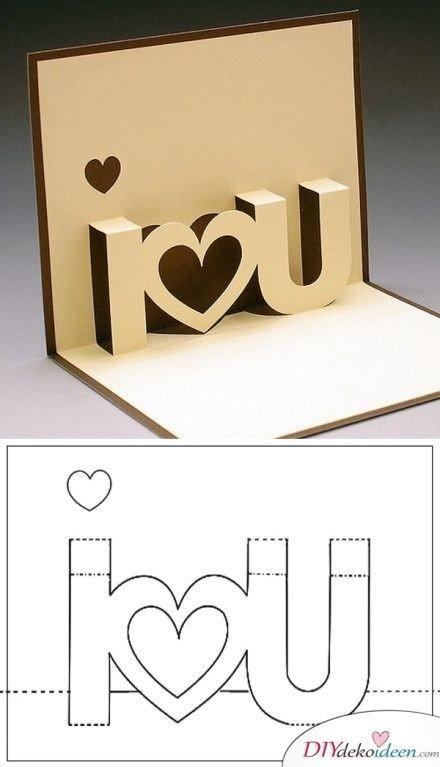 Süße 3D Valentinstagskarte