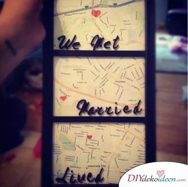 Die Landkarte eures Lebens - günstige Valentinstag Geschenkideen