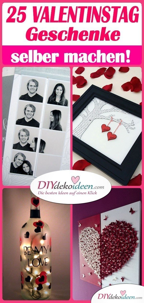 25 romantische Valentinstag Geschenke Selber Machen - die besten Ideen