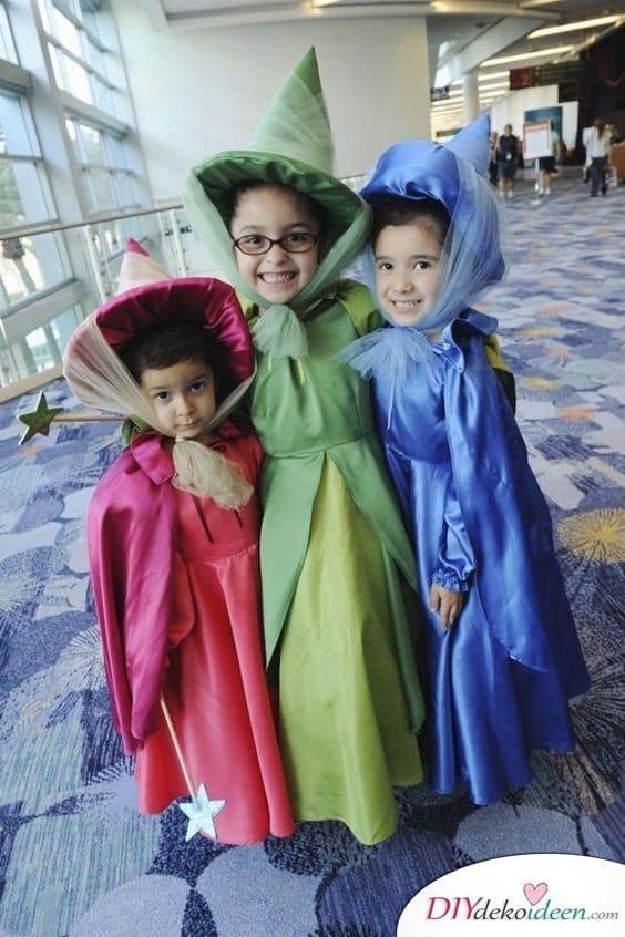 Kostüme für Mädchen – Die drei guten Feen