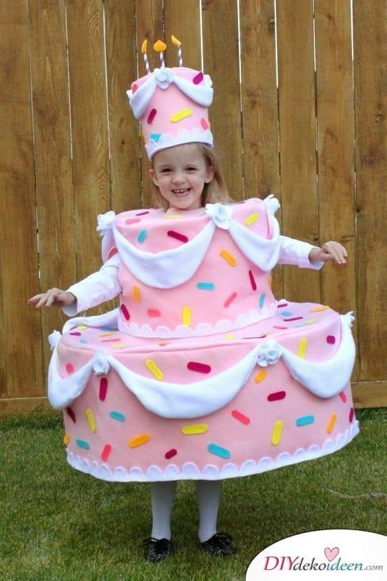 Kostüme für Mädchen – Geburtstagstorte