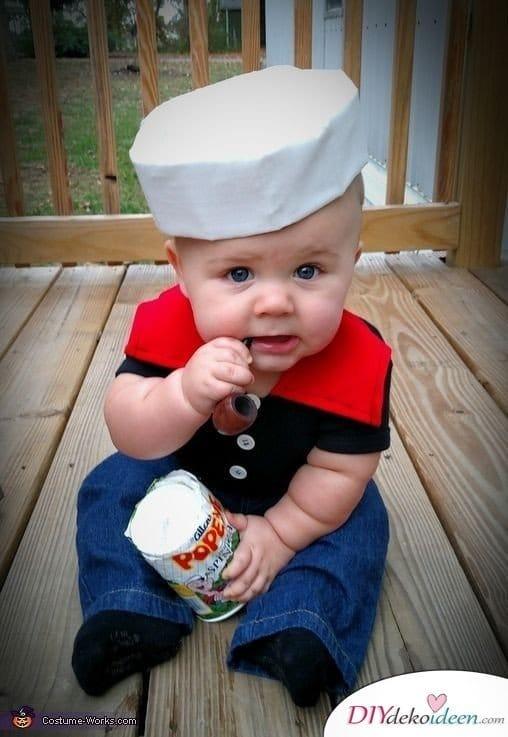 baby faschingskostüm nähen - Popeye