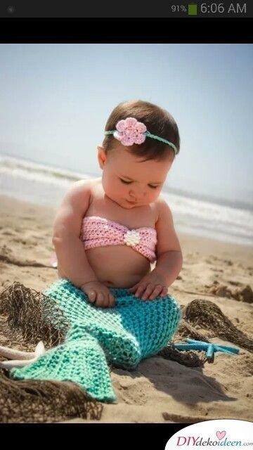 Kostüm für Baby - Meerjungfrau Kostüm Fasching