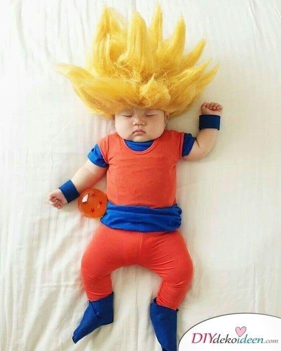 Dragonball Kostüm Idee für Babys und Kinder
