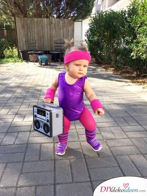 Faschingskostüm für Baby selber machen - Aerobic