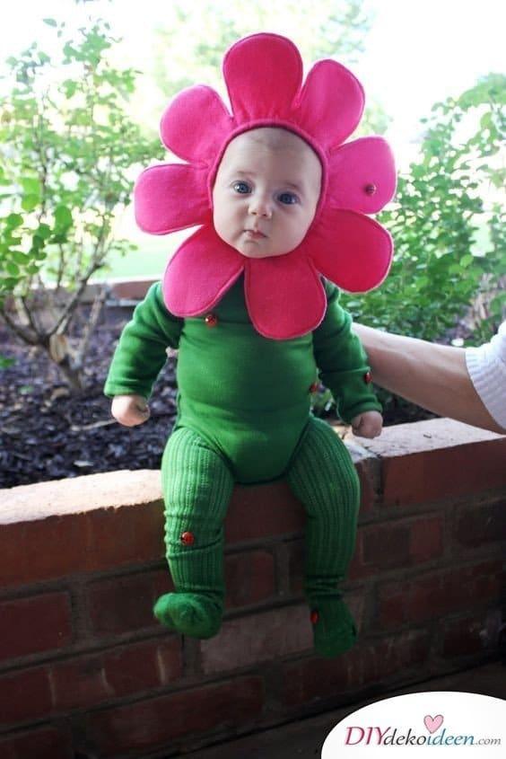 baby faschingskostüm ideen - Blume