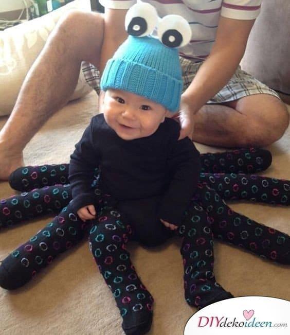 Spinne - baby faschingskostüm selber machen