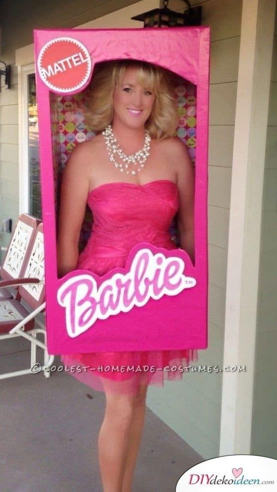 Barbie im Karton - Karneval Kostüm für Damen