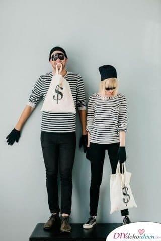 Gesetzlose Bankräuberin - Faschingskostüme Ideen