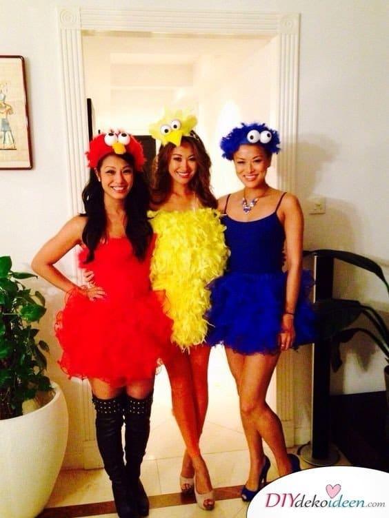 Sesamstraße - Karneval Kostüm Ideen für Damen
