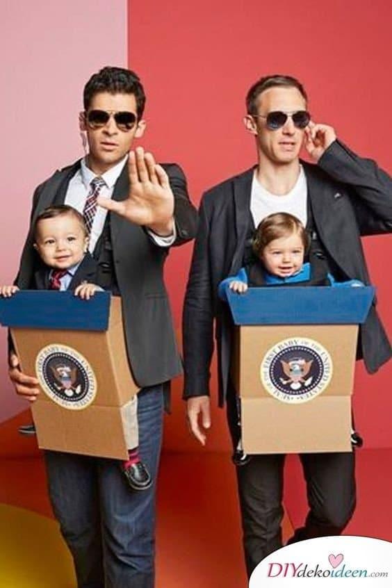 Mr. President und Bodyguard - Faschingskostüme Ideen für Herren