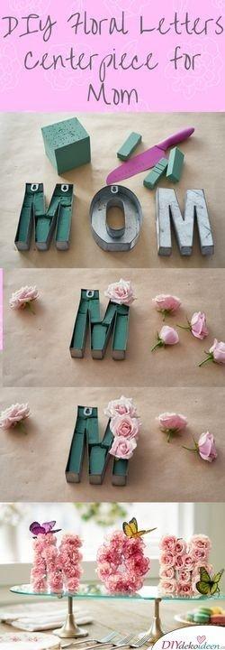 DIY Blumentischschmuck für Mutti - Geburtstagsgeschenke für Mama