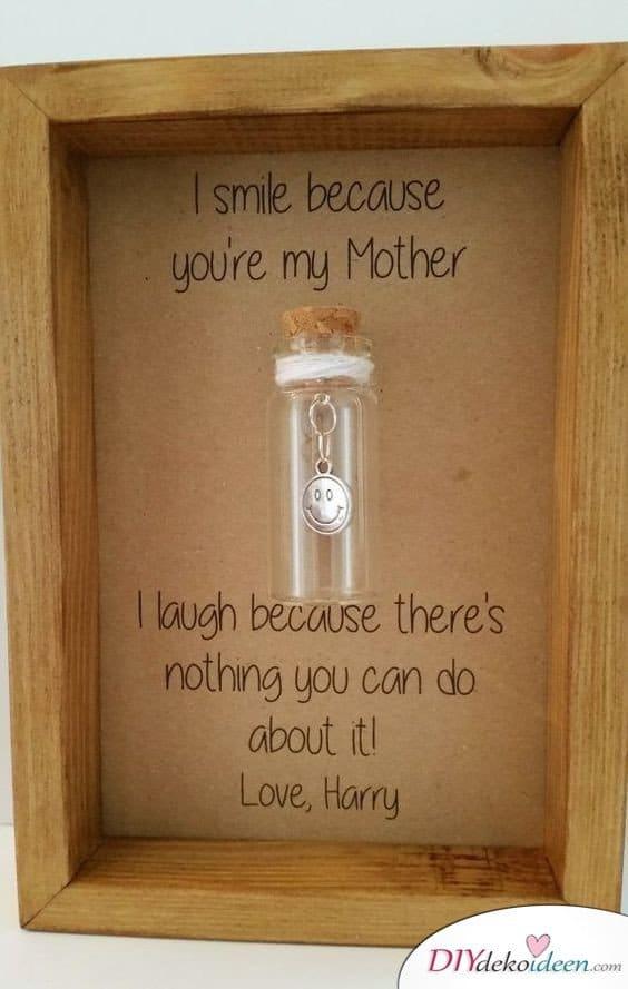 Lächeln in der Flasche - kleine Geschenke für Mama