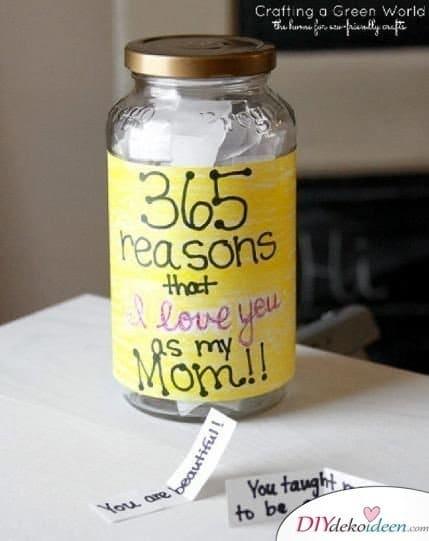 Persönliches Geschenk für Mama - 365 Gründe warum ich dich liebe