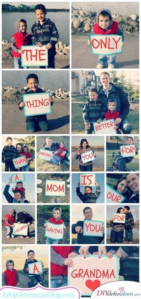Bildercollage mit Botschaft - Geschenkideen für Mama