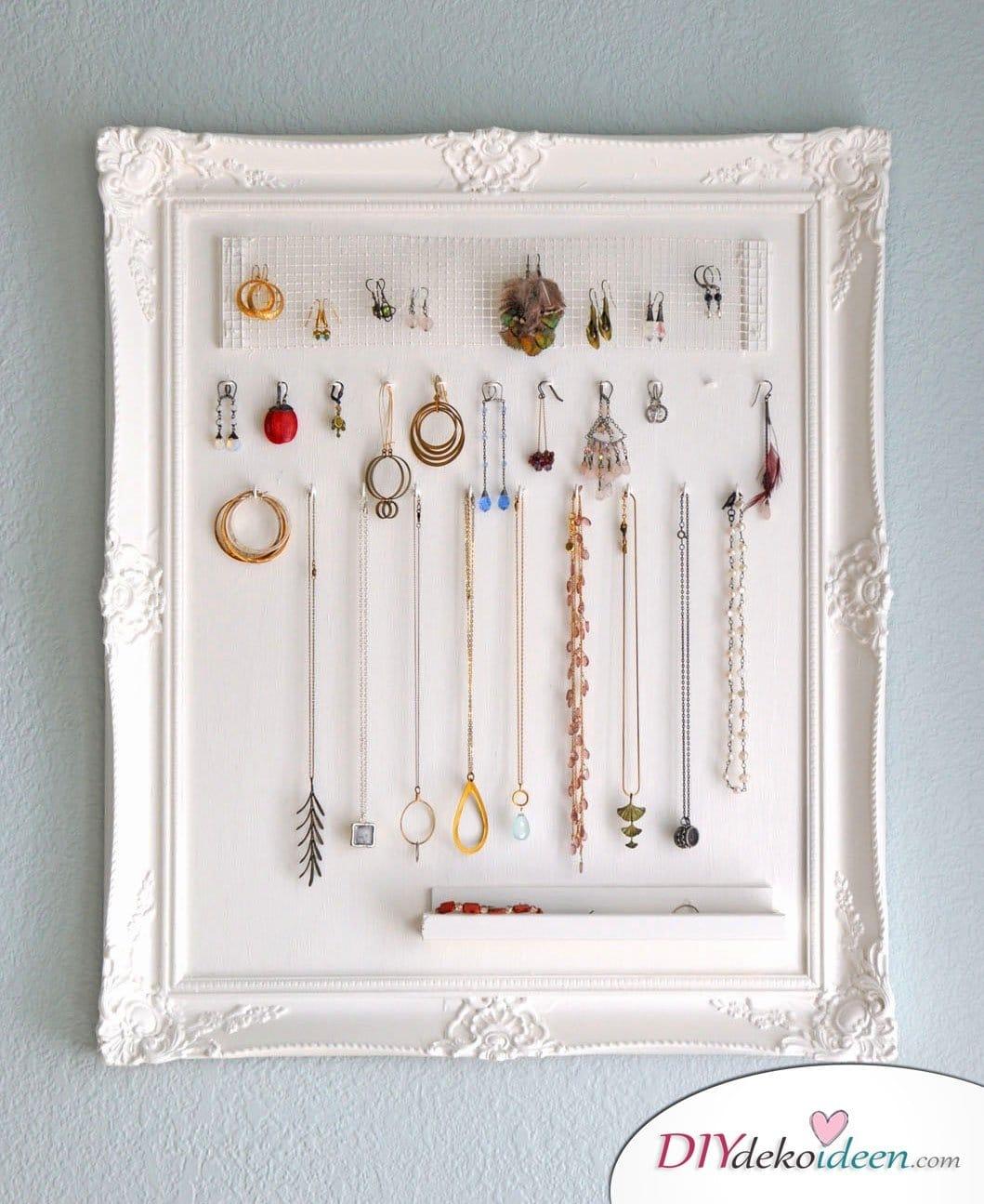 Schmuckhalter für Mamas Halsketten – DIY Geschenke basteln
