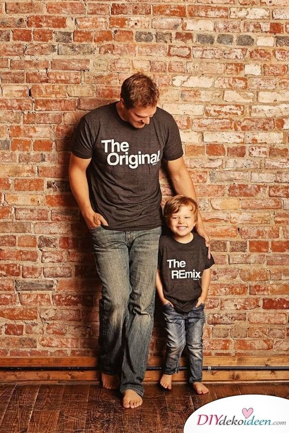Geburtstagsgeschenke für Papa – Shirts im Partnerlook