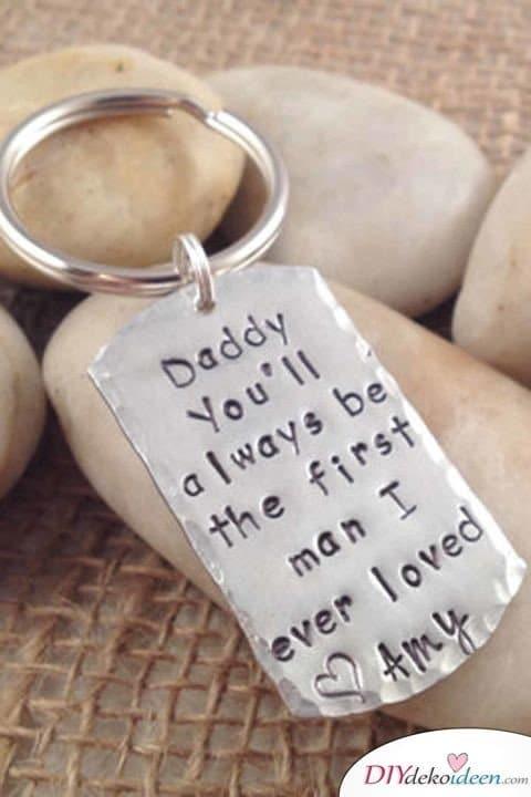 Schlüsselanhänger, ein persönliches Geschenk für Papa