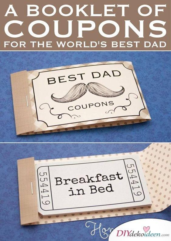 Gutscheinheftchen für den besten Papa der Welt