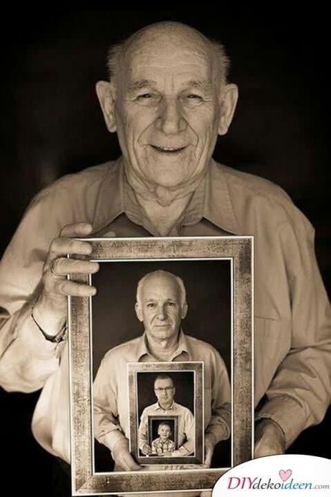 Familienporträt - selbstgemachte Geschenke für Papa