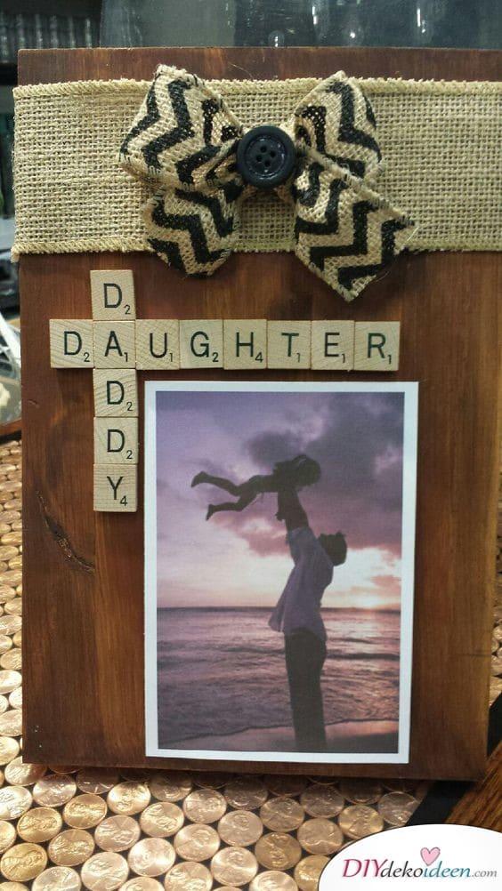 Süße Geschenkidee für Papa von der Tochter