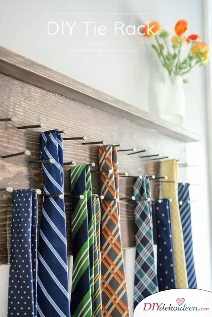 Selbstgemachte Geschenke für Papa – Krawattenhalter