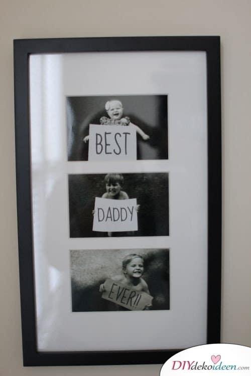 Der beste Papa aller Zeiten – Fotocollage für Vati