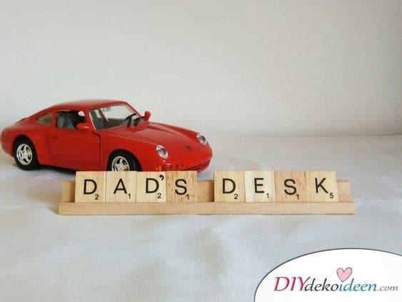 Papas Namensschild - Geschenke für Vater
