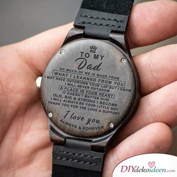 Uhr mit Widmung - Geschenke für Vater