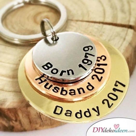 Persönliches Geschenk für Papa – Schlüsselanhänger