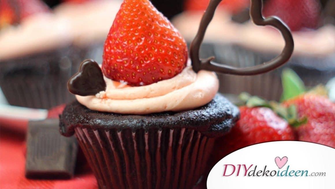 Liebes-Cupcakes ein ausgezeichnetes Valentinstag Kuchen Rezept