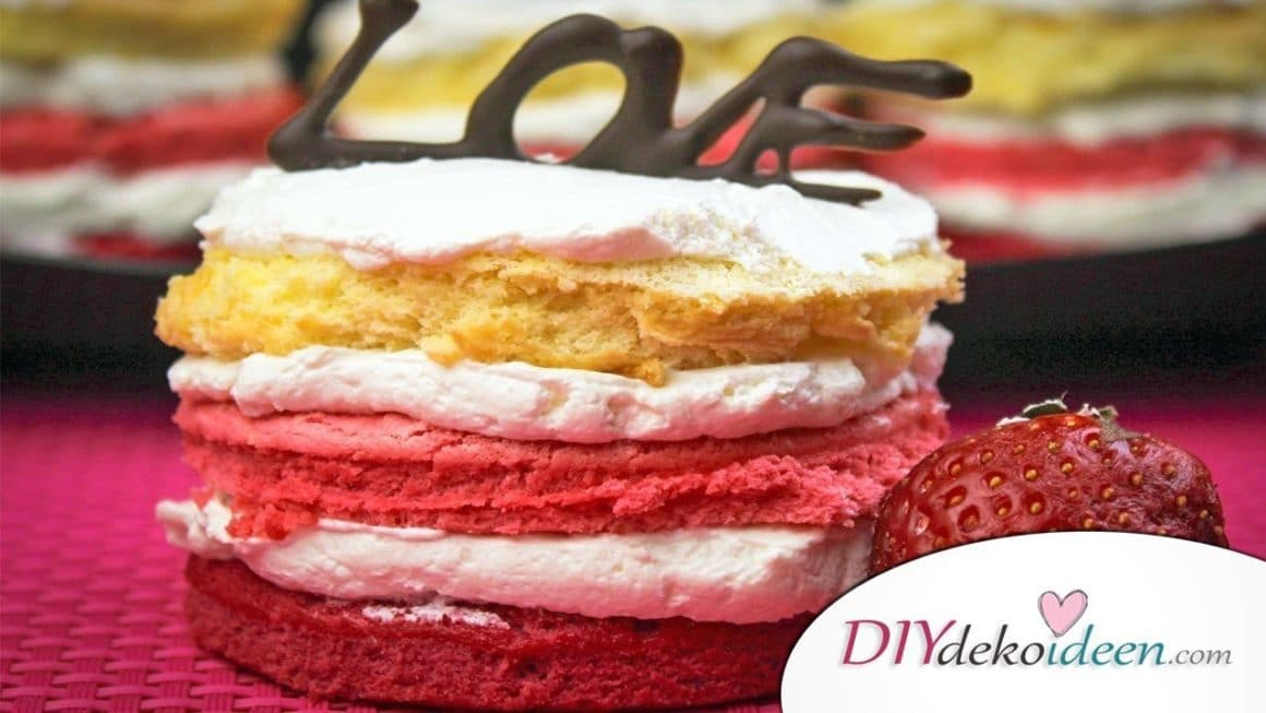Valentinstag Mini Ombré Torte