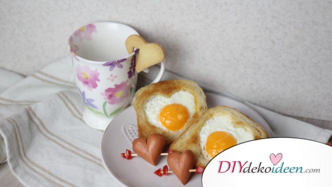 Valentinstagsfrühstück für den romantischen Start in den Tag