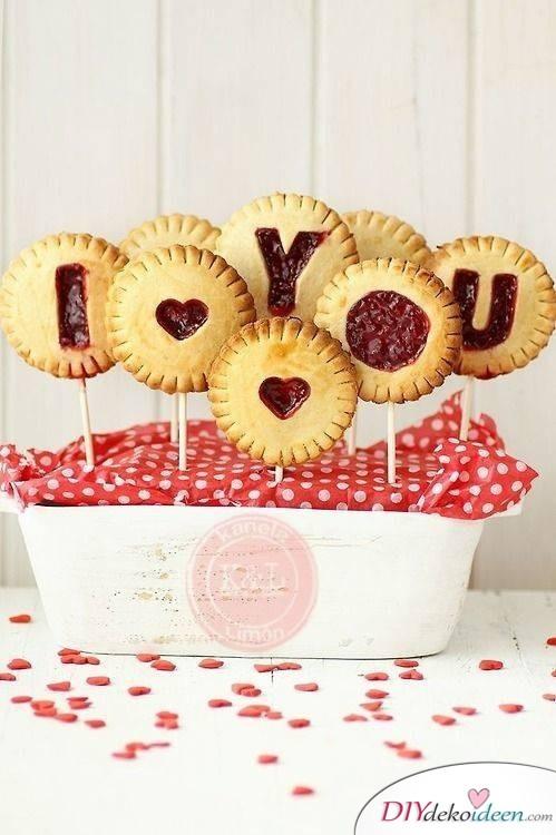 Lolli-Kekse, wenn du einfache Valentinstag Rezepte suchst