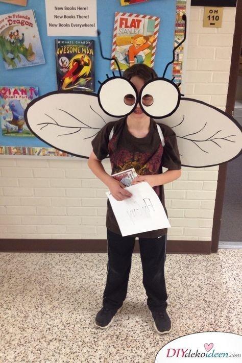 Kinder Faschingskostüm selber machen – Fliege