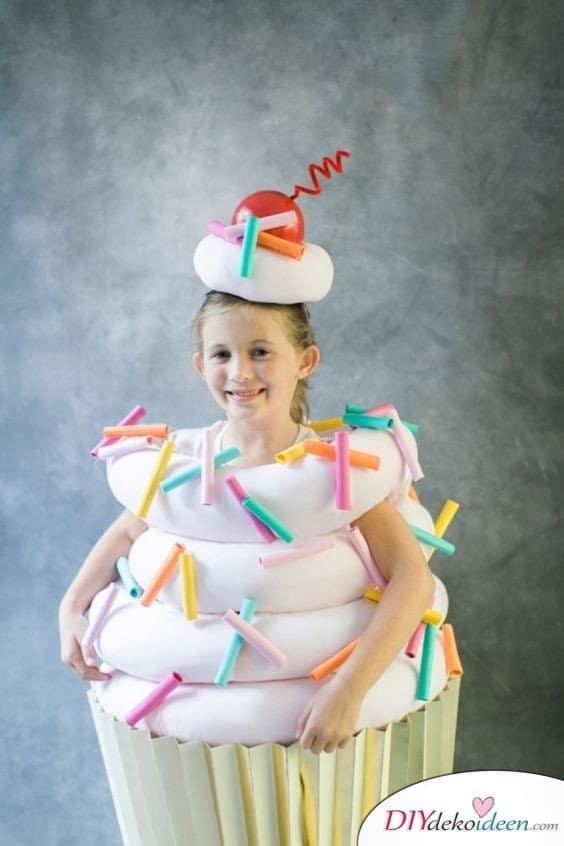 Kinder Karnevalskostüme selber machen – Cupcake