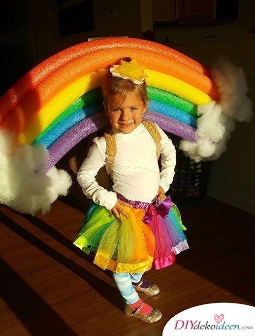 Kinder Karnevalskostüme selber machen – Regenbogen