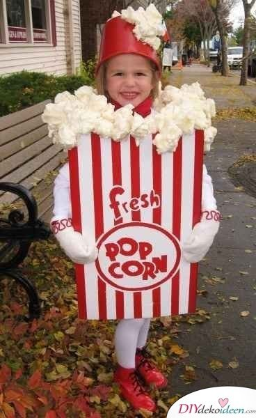 Kinder Karnevalskostüme selber machen – Popcorntüte