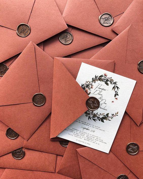 Hochzeitseinladungen  mit Siegel