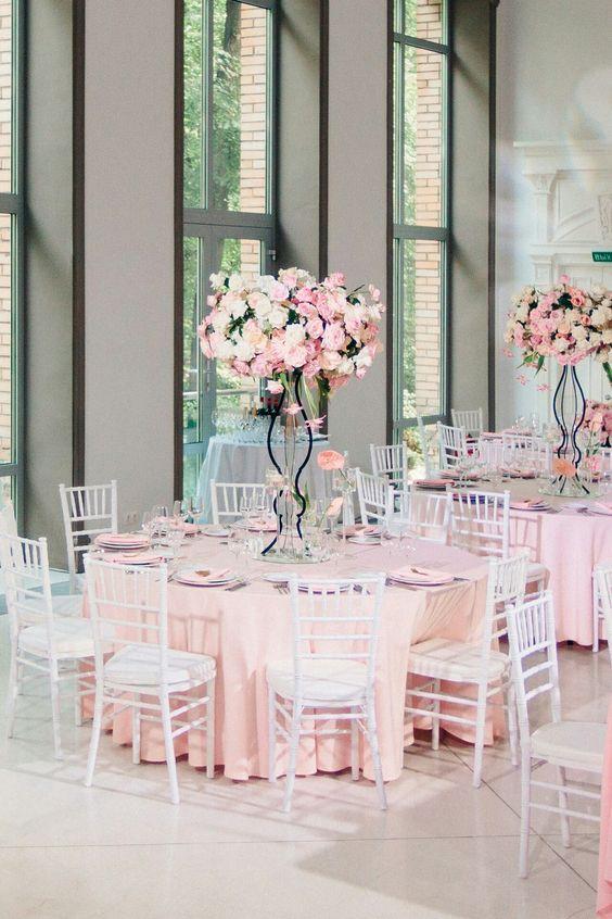 Mädchentraum in Pink - Hochzeitstisch dekorieren
