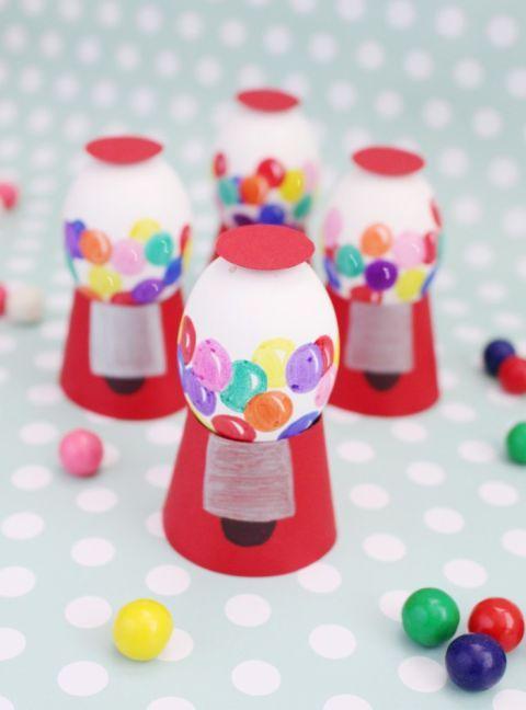 Kaugummiautomaten-Eier - Frühlingsdekoration Ideen