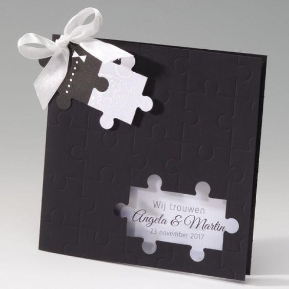 Puzzle-Karte - Hochzeitseinladungen selbst gestalten