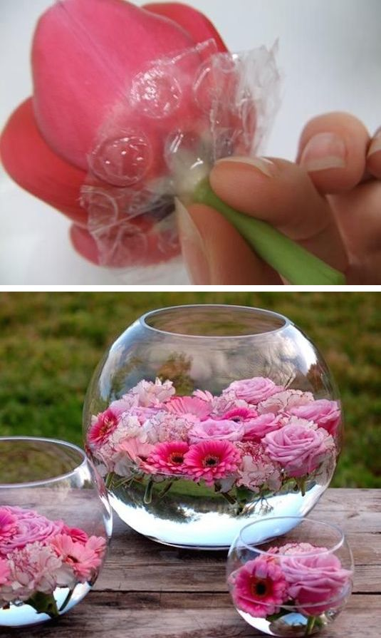 Hochzeitsdekoration selber machen – Schwimmende Blüten