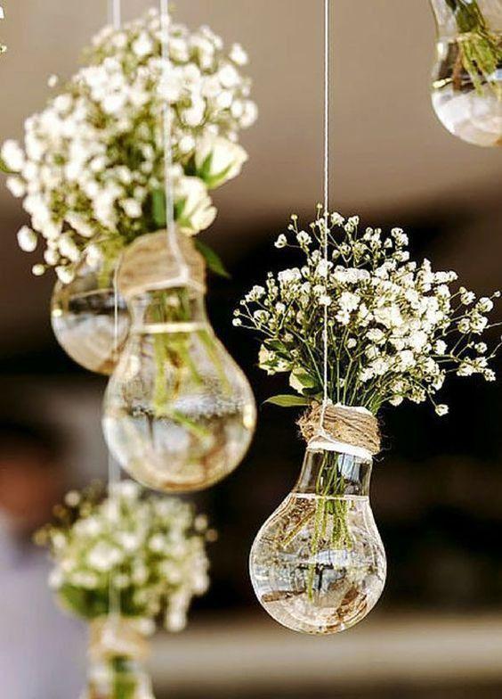 DIY Vasen - Deko für Hochzeit mit Glühbirnen