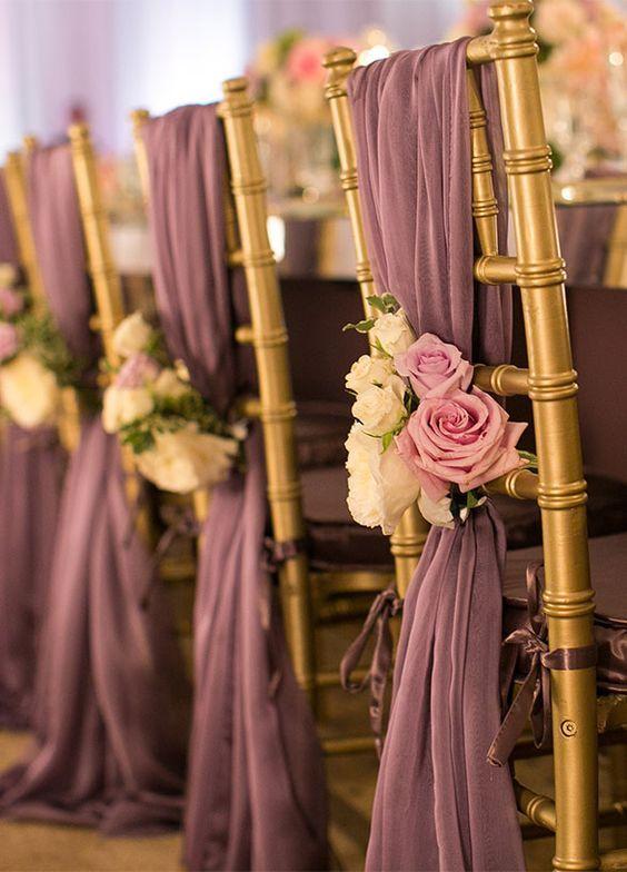Hochzeitsdeko Ideen – Stühle dekorieren